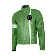 Ben 10 Game Tennyson Alien Swarm Ryan Kelley Green Leather Jacket Gaming Outfit