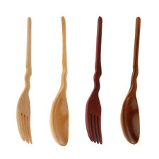 Wooden Soup Stir Fry Ladle and Fork Chinese Japanse Oriental Cooking Utensil