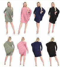 Womens Ladies one shoulder Ruched Baggy Batwing Top
