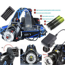 36000LM XM-L T6 LED Headlamp Zoom HeadLight Lamp Light+18650Battery+Charger Hot@