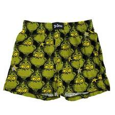 Dr. Seuss Mens The Grinch Christmas Star Holiday Boxer Shorts