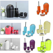 6Pcs Bathroom &Sink Accessory Set Lotion Dispenser Soap Dish, Trash Bin ect.