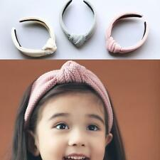 Fashion Bowknot Solid Width Hair Hoop Hair Accessories For Baby Girls W3LE