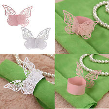 50Pcs Butterfly Napkin Ring Paper Holder Table Party Wedding Favors Banquet TB