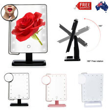 10X Magnifier Makeup Portable Mirror 20 LED Lighted Cosmetic Vanity Stand Beauty