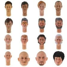 1:6 Scale Male Head Sculpt for 12'' Hot Toys Action Figure Body Parts Headplay