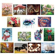 No Framed DIY Paint By Number Kit Painting Home Wall Decor New Year Gift