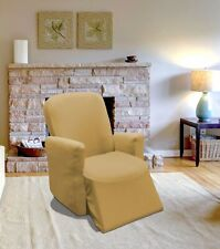 TAN JERSEY STRETCH SLIPCOVER, COUCH COVER, CHAIR LOVESEAT SOFA RECLINER