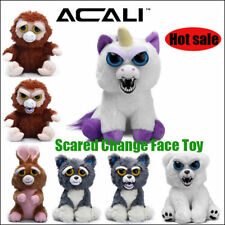 Funny Doll Toys Soft Plush Stuffed Scary Change Face Toy Animal With Attitude