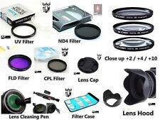 NP31 58mm Bundle Adapter UV CPL FLD ND4 Filter Set Lens Hood For Canon FA-DC58A