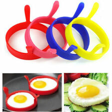 Egg Poach Ring Mould 4pcs Kitchen Cooking Silicone Fried Oven Poacher Pancake