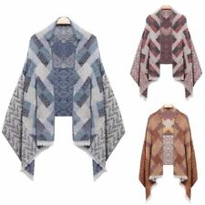 Women New Warm Plaid Quilted Shawl Wrap Stole Neck Long Scarf Winter Fashion