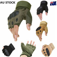 Mens Half Finger Tactical Outdoor Military War Game Airsoft Moto Cycling Gloves