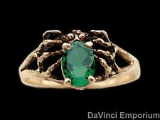 Spider Ring Faceted Gemstone Abdomen 14k Yellow Gold