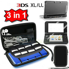 Carrying Bag+Clear Case Cover+Screen Protector for New Nintendo 3DS XL /3DS LL