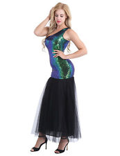 Womens Sequins Long Formal Evening Dress Mermaid Wedding Party Maxi Prom Gown