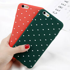 For iPhone SE 6s 7 Plus 8 X Shockproof Polka Dot Soft TPU thin Case Cover Apple