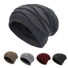 Unisex Winter Warm Baggy Beanie Woolen Yarn Knit Hat Slouchy Baggy Ski Hats