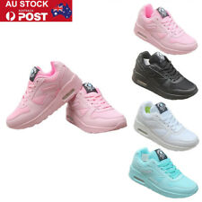 Women Lace Up Air Cushion Athletic Sports Shoes Outdoor Running Sneaker Trainer