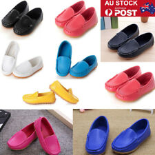 Candy Colors Girls Boys Slip on Moccasin Shoes Oxford Boat Sneakers Loafers AU