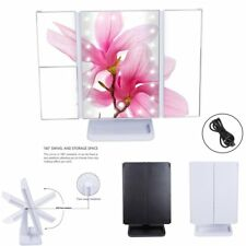 24 LED Touch Screen Makeup Mirror Illuminated Cosmetic Tabletop Lighted Vanity