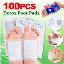 100 Foot Pads Care Sticky Adhesives 100x Detox Patch Natural Plant Toxin RemovOA