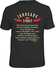 Funny Birthday T-Shirt - Vintage 1987 Fun Shirt Gift Cool Printed
