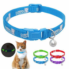 Nylon Reflective Kitten Cat Small Dog Collars with Bell for Pet Puppy Chihuahua