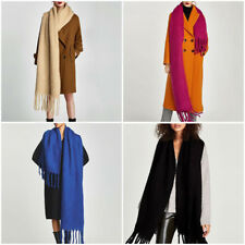 Fashion Women's Autumn Winter Solid Large Long Cotton Blend Scarf Wraps Shawl