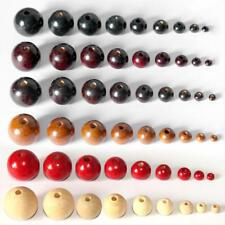 50Pcs Round Ball Wood Beads Wooden Spacer Bead For Jewelry Making 4mm-20mm