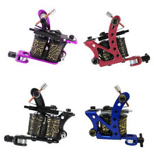 Tattoo Machine Liner Gun Shader Rotary Coils 10 Wrap Kit Dual-coiled