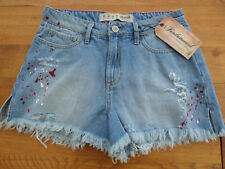 Denim & Co (Primark) Ladies Blue Distressed Denim Shorts - BNWT 12