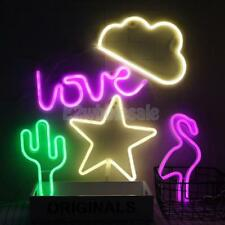 Battery/USB Powered LED Night Light Marquee Decorative Lamp Kids Bedside Lamp