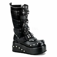 Demonia TRUCK-200 Black Pu Alternative Shoes