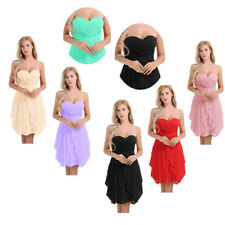 Chiffon Women Short Dress Prom Evening Party Cocktail Bridesmaid Wedding #4-16