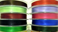 DOUBLE SIDED SATIN RIBBON, 15MM, ASSORTED COLOURS, 25MTR/ROLL