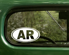 AR ARKANSAS DECAL 2 Oval Stickers For Car Truck Laptop Window Bumper Jeep Boat