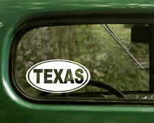 TEXAS DECAL 2 Oval Stickers For Car Truck Laptop Window Bumper Jeep Boat