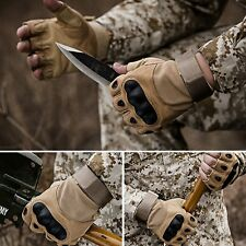 Tactical Fingerless Gloves Military Army Combat Anti-Skid Carbon Hard Knuckle