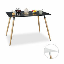 Dining Table Dining Room Kitchen Table White Black Wooden Modern Eating Table