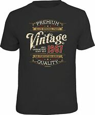 Funny Birthday T-Shirt - 100% PREMIUM VINTAGE SINCE 1967 Fun Shirt Gift