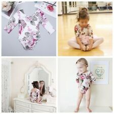 Infant Toddler Baby Kid Girls Floral Printed Romper Jumpsuit One-Piece Clothes