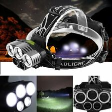 80000LM 5 Head  T6 LED 18650 Headlamp Headlight Flashlight Torch Lamp Light