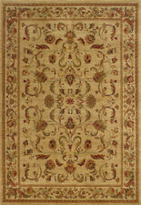 Beige Border Vines Leaves Traditional - Persian/Oriental Area Rug Floral 002A1