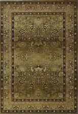 Beige Traditional - Persian/Oriental Vines Leaves Border Area Rug All-Over 3434J