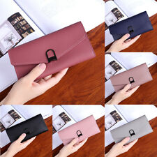 Leather Wallet Fashion Women  Button Clutch Purse  Lady Short Handbag Bag J0186