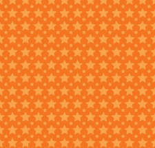 One For The Boys - Stars Orange Fabric by Riley Blake / Quilting / Patchwork