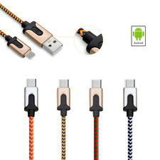 1Pc Nylon Wire Braided USB Charger Data Cable For Android Samsung Smartphone 1M