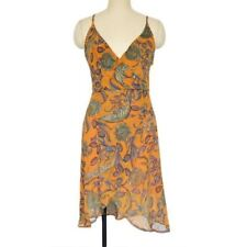 Women Floral Printed Backless Backless Sleeveless A Line Knee Length Dress R709