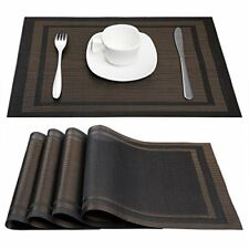 Set Of 4 Kitchen Dining Table Placemats Heat Insulation Decor Cover Accessories